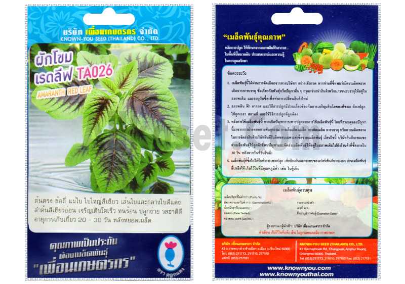 รูปเมล็ดผักโขม เรดลีฟ TA026