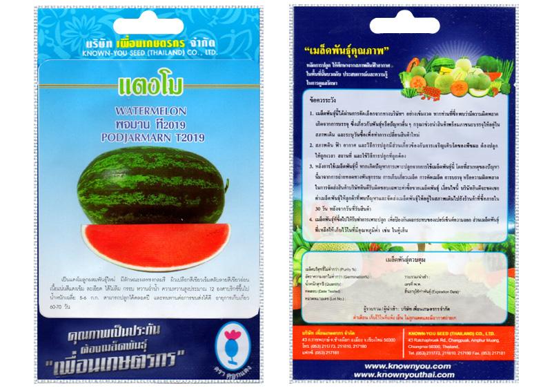 รูปเมล็ด แตงโม พจมาน T2019